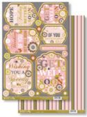Craftstyle A4 Diecut Topper Sheet & Backing Sheet - Get Well Soon